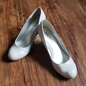 Gray wedge pumps by Chinese Laundry, size 8.5M